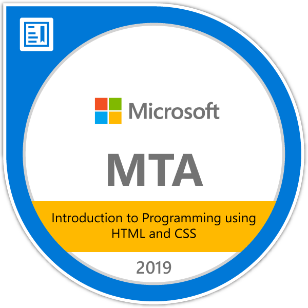 mta html and css certification